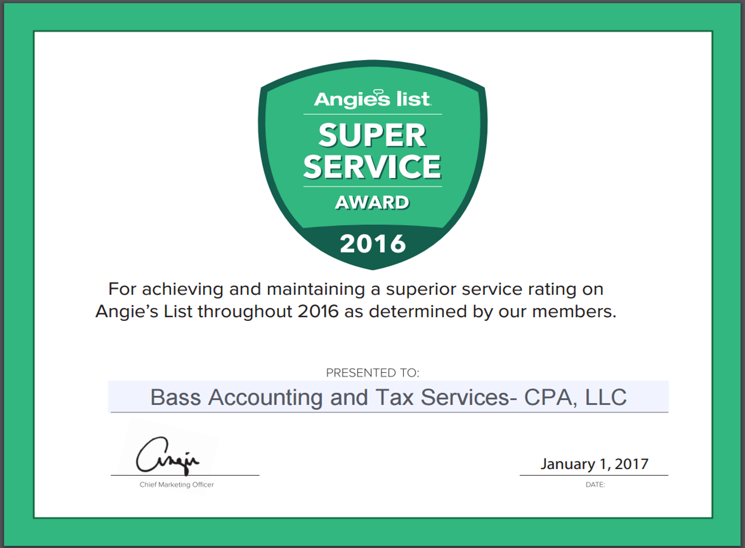 2016SuperServiceAward
